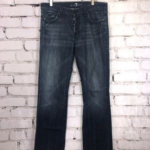 7FAM standard straight denim jeans 33 men's